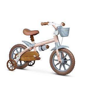 Bicicleta Infantil Menina Antonella Aro 12 Rosa - Nathor