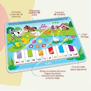 Tablet Infantil Musical para Bebê Cantando Com os Animais Colorido - Buba
