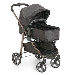 Carrinho Berço Bebê Infantil Passeio Olympus Black - Galzerano