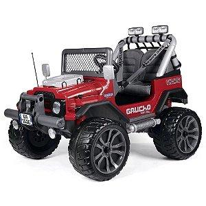 Mini Carro Carrinho Jeep Elétrico Infantil 2 Lugares Gaucho 12v 4x4 Off Road - Peg-Pérego