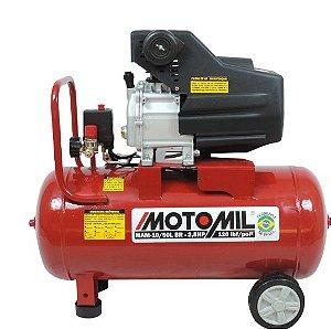 MOTOCOMPRESSOR AR 120LBS 50L 2,5 HP 220V MOTOMIL