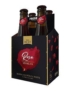 The Best Rosa Vermelha - Cerveja & Vinho - 4 Garrafas 355ml