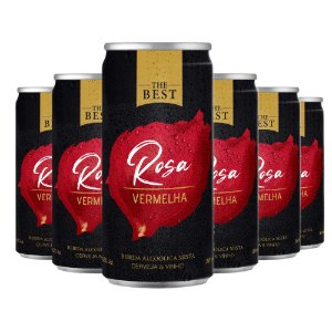 The Best Rosa Vermelha - Cerveja & Vinho - 6 Latas 269ml