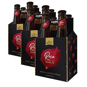 The Best Rosa Vermelha - Cerveja & Vinho - 12 Garrafas 355ml