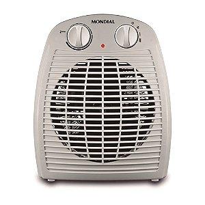 Aquecedor De Ar Elétrico Mondial 2 Temperaturas 1500 Watts Termoventilação A08 Cinza