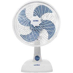 Ventilador de Mesa Mondial Ultra 30cm 4 Pás V16 Branco e Azul