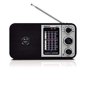 Rádio Portátil Semp Tcl 8 Faixas Am Fm Om Usb P2 Tr01b