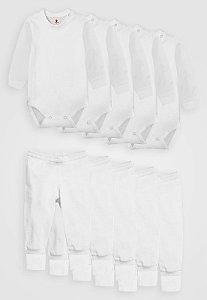 Kit 10pçs Body Culote Zupt Baby Branco