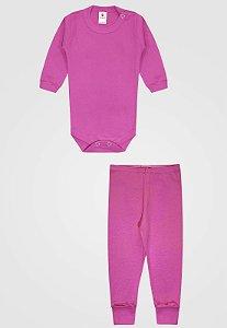 Conjunto 2pçs Zupt Baby Longo Pink