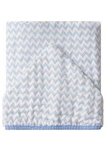 Toalha de Banho Papi Soft Forrada Chevron Azul