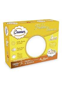 Caixa 5pçs Fraldas de Pano Cremer Luxo Branco