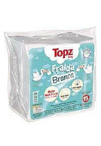 Pacote 15pçs Fraldas de Pano Topz Cremer Branco