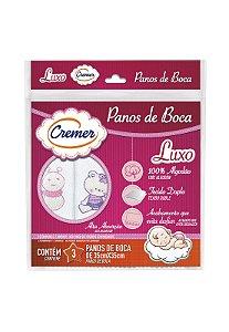 Kit 3pçs Toalha de Boca Cremer Luxo Menina