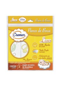 Kit 3pçs Toalha de Boca Cremer Luxo Neutro