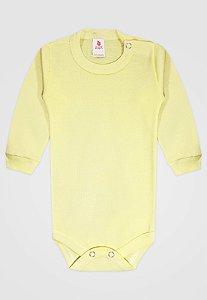 Body Zupt Baby Longo Básico Amarelo