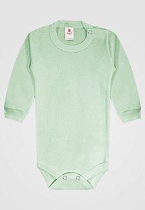 Body Zupt Baby Longo Básico Verde
