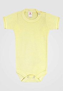 Body Zupt Baby Curto Básico Amarelo