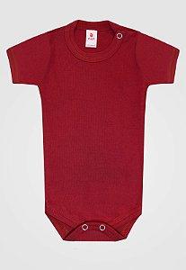 Body Zupt Baby Curto Básico Vermelho