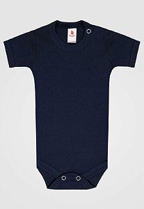 Body Zupt Baby Curto Básico Azul Marinho