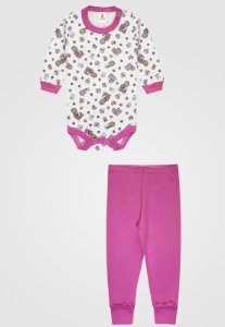 Conjunto 2pçs Zupt Baby Longo Bebê Pink