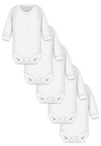 Kit 5pçs Body Zupt Baby Longo Branco