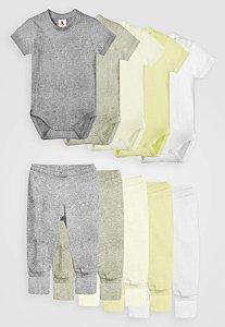 Kit 10pçs Body Culote Zupt Baby Tons Pastéis