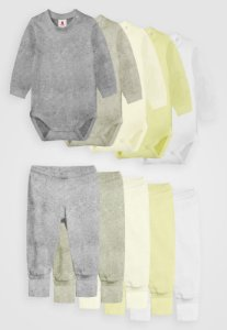Kit 10pçs Body Culote Zupt Baby Tons Pasteis