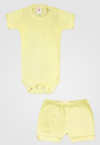 Conjunto 2pçs Zupt Baby Curto Amarelo