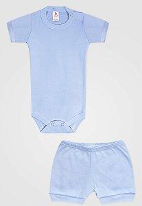 Conjunto 2pçs Zupt Baby Curto Azul