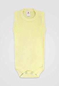 Body Zupt Baby Regata Básico Amarelo