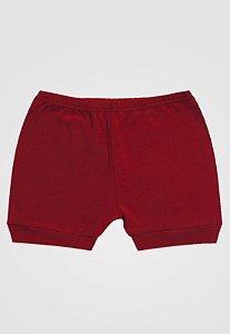 Shorts Zupt Baby Básico Vermelho