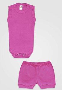 Conjunto 2pçs Zupt Baby Regata Pink