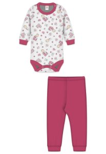 Conjunto 2pçs Zupt Baby Estampado Bebê Pink