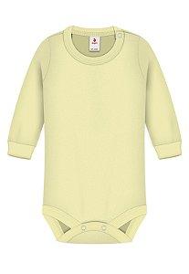 Body Básica Lisa, Zupt Baby, Amarelo