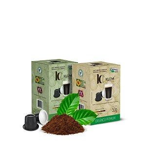 Combo Café Orgânico Premium e Gourmet Especial Cápsulas 50g