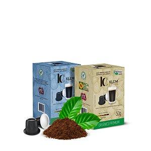 Combo Café Orgânico Premium e Clássico Especial Cápsulas 50g