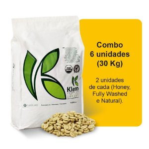 Combo Café Orgânico In Natura Especial (Honey, Fully Washed e Natural) 30Kg