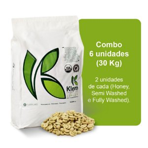 Combo Café Orgânico In Natura Especial (Honey, Semi Washed e Fully Washed) 30Kg