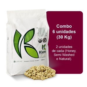 Combo Café Orgânico In Natura Especial (Honey, Semi Washed e Natural) 30Kg