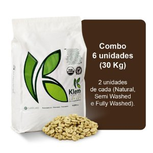 Combo Café Orgânico In Natura Especial (Natural, Semi Washed e Fully Washed) 30Kg