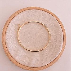 Bracelete Liso Boleado Banhado em Ouro 18k