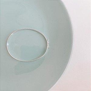 Bracelete de Prata Oval e Liso