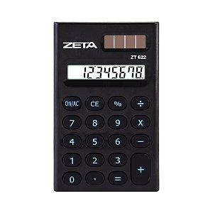 Calculadora de Bolso 8 Dígitos Preta Zeta ZT622-BK