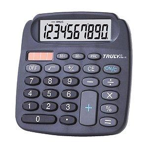 Calculadora de Mesa 10 Dígitos Preta Truly 808A-10