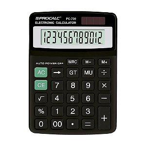 Calculadora de Mesa 12 Dígitos Preta Procalc PC730