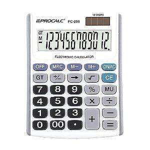 Calculadora de Mesa 12 Dígitos Branca Procalc PC255