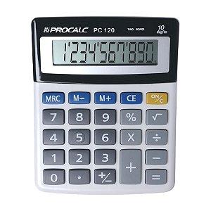 Calculadora de Mesa 10 Dígitos Cinza Procalc PC120