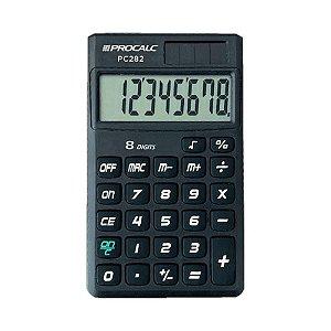 Calculadora de Bolso 8 Dígitos Preta Procalc PC282