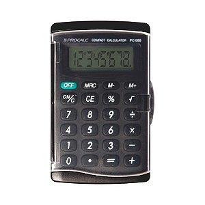 Calculadora de Bolso 8 Dígitos Capa Proteção Procalc PC068-B