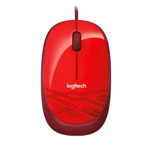 Mouse Óptico USB 1000 DPI Vermelho Logitech M105